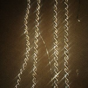 Antique two chain twisted rope